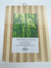 "Quality Authentic Bamboo Cutting Board w/ring;Medium 13 3/4 x 10 1/8 x 5/8""; New"