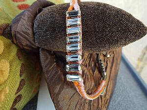 NEW***CHAN LUU Crystal Bead Leather Pull Tie BRACELET!!
