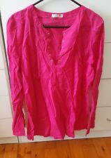 SEAFOLLY Hot Pink Dress Size Beach Over Swimmers Size XL Cotton