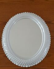 """Burwood White Hobnail Oval Wall Mirror 2657 Home Interiors 18"""" x 15"""""""
