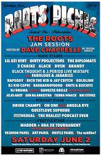 "THE ROOTS / DAVE CHAPPELLE ""ROOTS PICNIC"" 2018 PHILADELPHIA CONCERT TOUR POSTER"