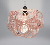 Country Club Gem Wrap Design Easy Fit Light Fitting / Shade - Rose Gold