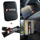 For Jdm Trd Carbon Fiber Car Center Console Armrest Cushion Mat Pad Cover Combo
