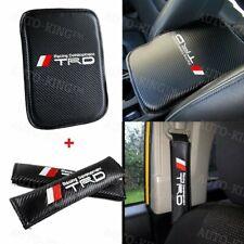 For Jdm Trd Carbon Fiber Car Center Console Armrest Cushion Mat Pad Cover Combo Fits 1985 Supra