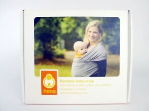 Hana Eco Baby Carrier Stretchy Wrap Sling with 48% Bamboo Blue (TEAL) RRP:£41.99