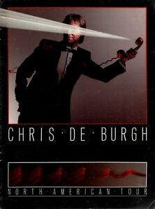 CHRIS DE BURGH 1984 THE GETAWAY N. AMERICAN TOUR CONCERT PROGRAM BOOK / VG 2 NMT