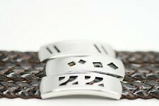 Echtschmuck  DREI Armband Armkette Leder Edeltahl Anhänger 3 versch. Design NEU