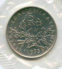 TOP RARE MONNAIE DE 5 FRANCS SEMEUSE DE 1973 SCELLE FDC MONNAIE UNC - NEUVE TOP