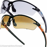 Delta Plus FUJI2 Safety Specs Sun Glasses Spectacles Cycling Clear or Gradient