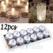 12pcs  Led Submersible Battery Waterproof Wedding Decor Party Vase Tea Light