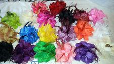 Joblot 20 pcs Feather & Faux silk Flower Hairclip/broach NEW wholesale Lot 4