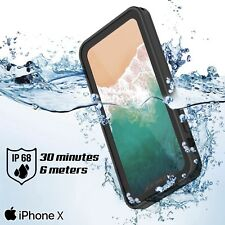 Waterproof Hard Shockproof PC Dust proof Durable Case Cover For iPhone X / XS