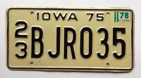 Iowa 1978 1975 Old License Plate Garage Car Auto Tag Vintage Man Cave Boy Decor