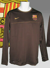 Nike Barcelona entrenamiento de Fútbol previo partido camisa ceniza Marrón L