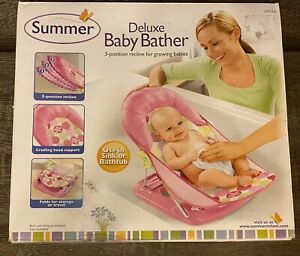 Summer Infant Deluxe 3 Position Baby Bather Color Pink New Open Box