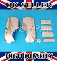 CHROME SIDE WING MIRROR COVERS & CHROME 4 DOOR HANDLE COVERS FOR TRANSIT MK7 MK6