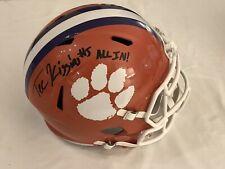 Tee Higgins Autographed Clemson Tigers Full Size Helmet ALL IN JSA COA