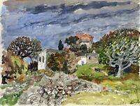Karl Adser 1912-1995 Pueblo En Rhodos Isla Grecia