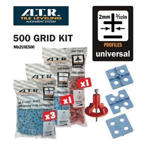 ATR TILE LEVELING SYSTEM Qty 500 PIECES 2mm UNIVERSAL KIT- Tile Level System