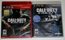PS3 Game Lot - Call of Duty Black Ops (New) Call of Duty Ghosts (New)