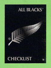 1995 NEW ZEALAND  ALL BLACKS RUGBY UNION CARD  #55  CHECKLIST
