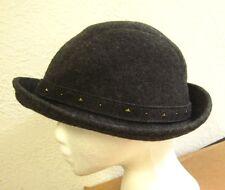 BETMAR studded gray fedora NYC wool throwback hat funky New York homberg