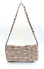 The Sak Brown Crochet Casual Small Foldover Purse Bag Clutch