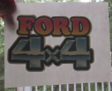 VTG 1980's Ford 4 X 4 4x4 Pick Up Truck Logo T-shirt Iron On Heat Transfer