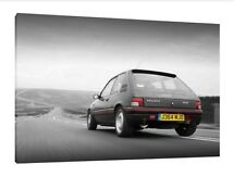 Peugeot 205 1.9 Gti - 30x20 Inch Canvas Art - Framed Picture Print