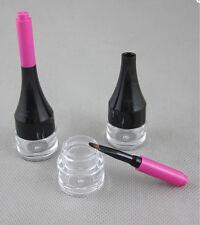 Hot sale~ Empty Eyelashes Tube Mascara Container PETG Eyeliner Bottle brush 3pcs