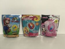 3 Pk Variety of Mario, Minnie Mouse & Sunny Day Color Twist Bath Bomb for Kids