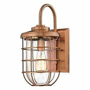 Westinghouse 6347900 Ferry One-Light Outdoor Wall Fixture, Washed Copper Finish