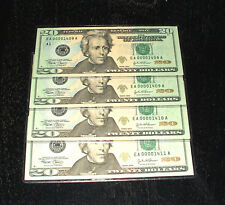 2004 Uncirculated $20. Notes - # 1408 to 1411 - Boston - 4 In Sequence