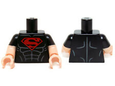 LEGO - Minifig, Torso Black Shirt w/ Muscles & Red Superman Logo - (Superboy)