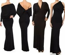 Dress Maxi Cocktail Plus Halter Convertible Multi Way Black Gown Party Women New