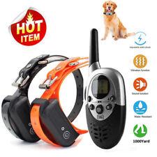 1000 Yard Rechargeable Remote Dog Pet Training Shock Collar Anti Bark Waterproof