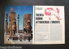 AZ41 - Clipping-Ritaglio -1967- I VIAGGI DI QUATTRORUOTE IN ORIENTE