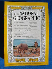 National Geographic Magazine January 1960 Vintage Ads Car Truck Advertising