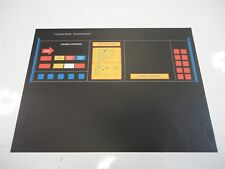 Missile Command Arcade Control Panel Overlay