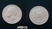 PORTUGAL / 200 REIS - 1909 / D. MANUEL II / SILVER COIN