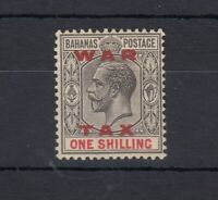Bahamas KGV 1919 1/- War Tax Grey Black Carmine SG104 MLH JK620