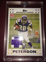 Adrian Peterson NFL 2007 RC Topps Rookie RELIC JSY card Arizona Cardinals Jersey