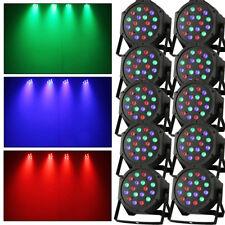 10x 18x 3W RGB LED Spot PAR56 DMX Scheinwerfer Floorspot Wash für Lichtanlage DE