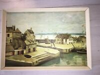1830 jean-baptiste Camille Corot  signed old print houses at hornfleur