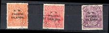New Guinea; N. W. Pacific Islands. 3 stamps. 1915. (SG 121,122 & 123). Used.