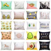Fruit Pattern Flannelette Waist Throw Pillow Case Cushion Cover Home Sofa Decor