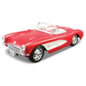 Maisto Tech 1:24 Assembly Line 25pc 1957 Corvette Model Car Kids Building Kit 8+