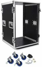 "Pro X TOV T-16RSS 16U 3/8"" Wood ATA300 Rack DJ Amplifier Flight Case w/ Wheels"