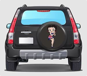 Spare Wheel Cover 4x4 Graphic Sticker Betty boop uk  500MM contour cut graphic