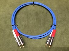 New 3' Belden 1506A Blue High Quality/ Studio Grade Analog RCA Stereo Cables